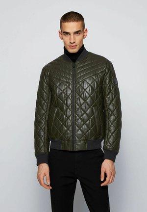 JECEY - Leren jas - open green