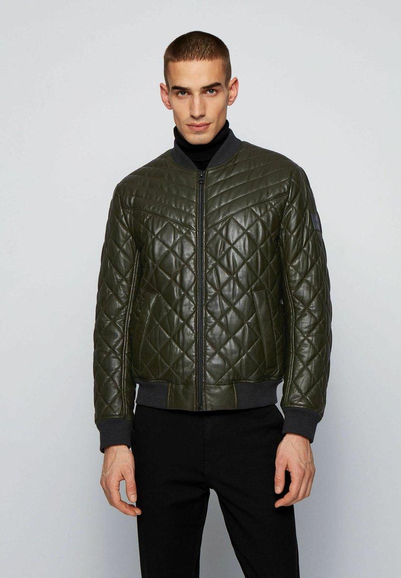 BOSS - JECEY - Leather jacket - open green