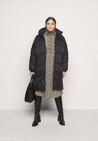 Vero Moda Curve - VMUPSALA LONG JACKET  - Winter coat - black - 1