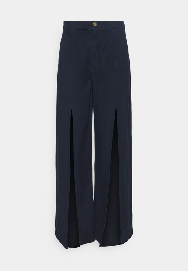 DEVON - Flared jeans - navy
