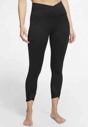 YOGA WRAP 7/8  - Legging - black/dark smoke grey