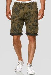 INDICODE JEANS - ALBERT - Shorts - army - 0