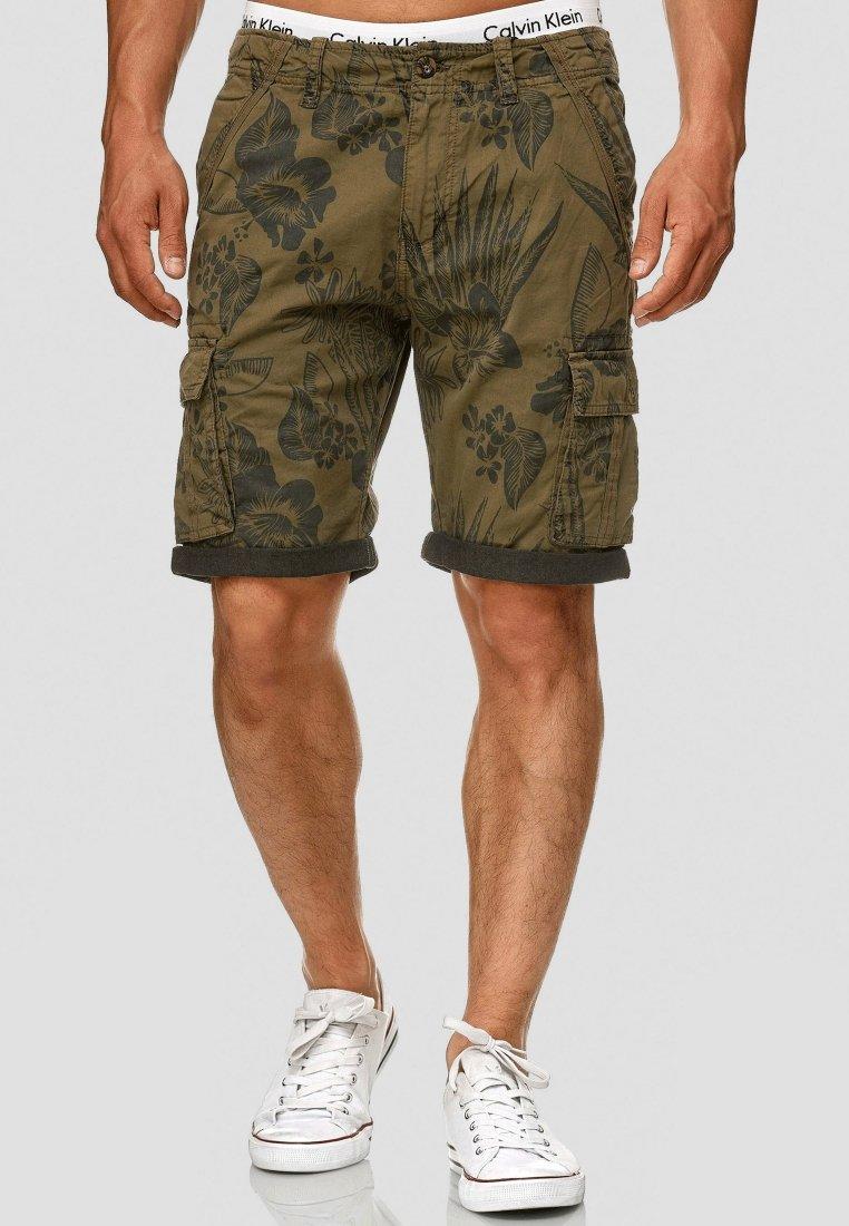 INDICODE JEANS - ALBERT - Shorts - army