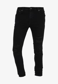 Jack & Jones - JJILIAM JJORIGINAL - Vaqueros pitillo - black denim - 6