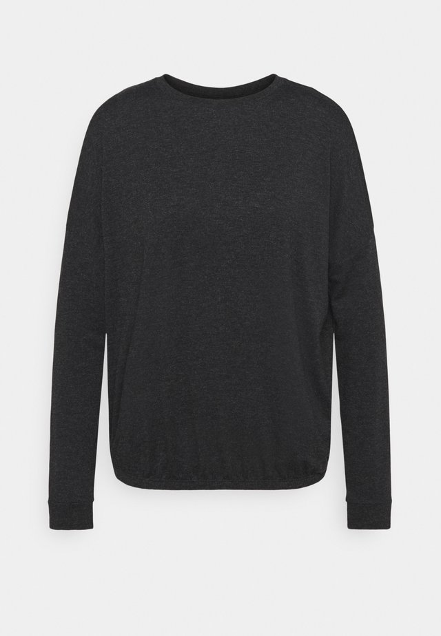 SANNO - Long sleeved top - slate grey melange