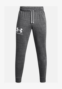 Under Armour - RIVAL TERRY  - Tracksuit bottoms - pitch gray full heather - 3