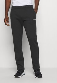 Champion - LEGACY STRAIGHT HEM PANTS - Joggebukse - black - 0