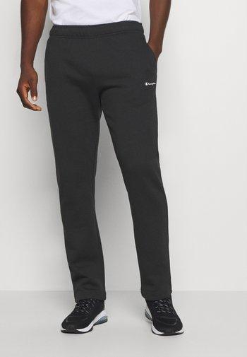 STRAIGHT PANTS - Tracksuit bottoms - black