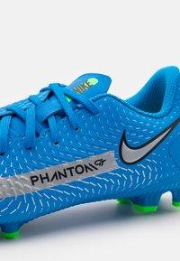 Nike Performance - JR PHANTOM GT ACADEMY MG UNISEX - Moulded stud football boots - photo blue/metallic silver/rage green - 5