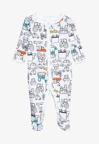 Carter's - BABY INTERLOCK TRUCKS - Pyjamas - white - 4