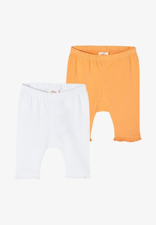 PACK OF 2 - Leggings - Hosen - white yellow