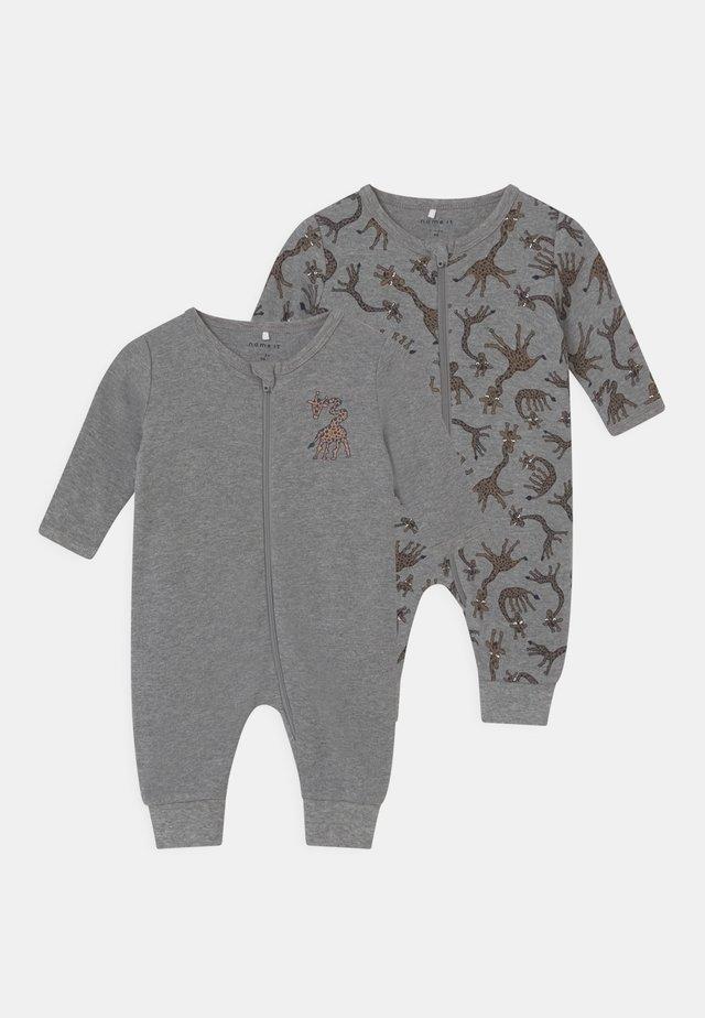 NBMNIGHTSUIT 2 PACK - Pyjamaser - grey melange