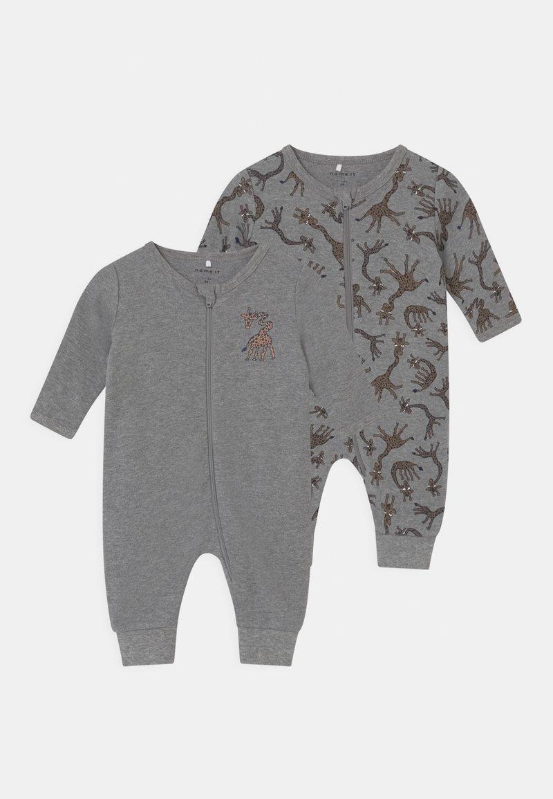 Name it - NBMNIGHTSUIT 2 PACK - Pyjama - grey melange