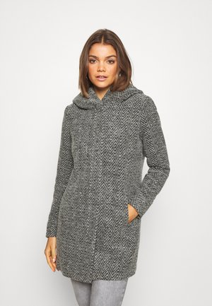 ONLZIENA HOODED COAT  - Wollmantel/klassischer Mantel - black/melange