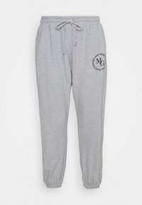 Missguided Plus - OVERSIZED JOGGER WAFFLE - Teplákové kalhoty - grey - 0