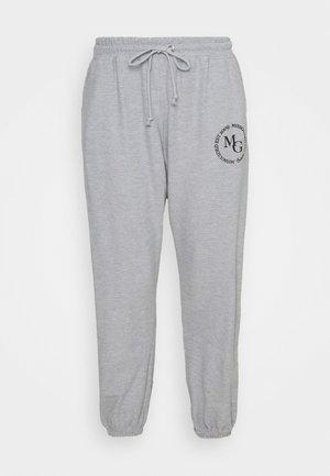 OVERSIZED JOGGER WAFFLE - Teplákové kalhoty - grey