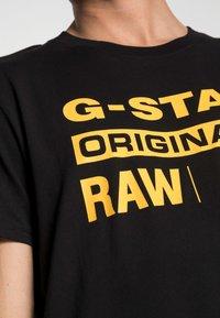 G-Star - GRAPHIC LOGO - T-shirt con stampa - dark black - 4