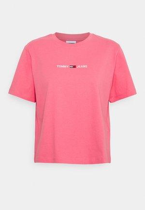 LINEAR LOGO TEE - Printtipaita - botanical pink