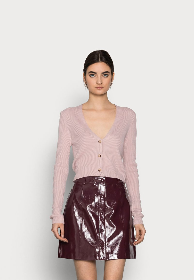 Missguided Tall - CROP - Cardigan - pink