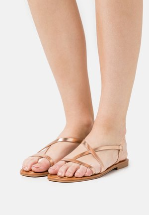BROASA - T-bar sandals - rose gold