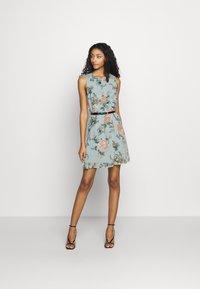 Vero Moda - VMSUNILLA SHORT DRESS - Day dress - chinois green - 1