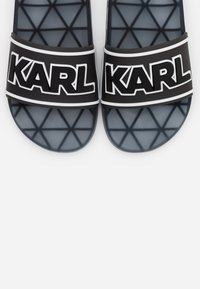 KARL LAGERFELD - KONDO BAND SLIDE - Sandály do bazénu - black - 6