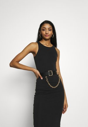 PCMAJE WAIST BELT - Waist belt - black/gold-coloured