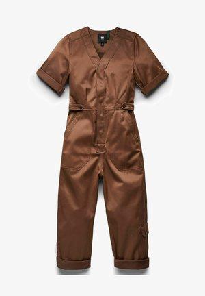 V-NECK SHORT SLEEVE - Jumpsuit - medium clay
