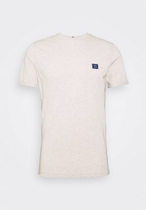 PIECE - Basic T-shirt - light brown melange/navy blue