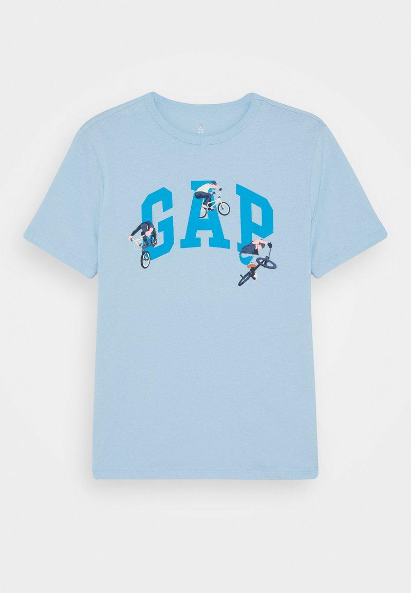 GAP - BOYS VALUE GRAPHIC - Print T-shirt - blue focus