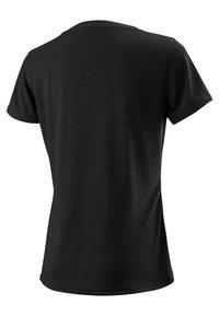 Wilson - SCRIPT TECH - Print T-shirt - black/white - 1