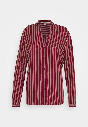CORE FLUID - Button-down blouse - bordeaux red
