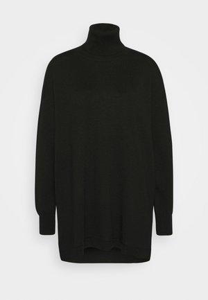 THELMA ROLLNECK - Jumper dress - black