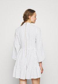 Closet - HIGH COLLAR MINI DRESS - Day dress - ivory - 2