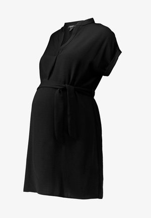 MARA OHEAD BELTED TUNIC - Blouse - black