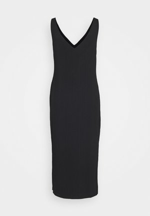 DOUBLE V COLUMN - Jersey dress - black