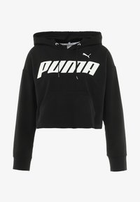 Puma - MODERN SPORTS HOODY - Felpa con cappuccio - black/white - 4