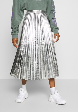 METALLIC  MIDI - Gonna a campana - silver