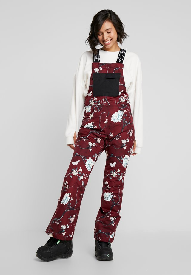 SNOW DAY BIB - Snow pants - red