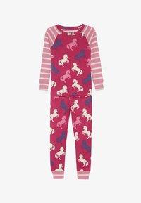 Hatley - KIDS CLASSIC PYJAMAS PLAYFUL HORSES - Pyžamo - pink - 3