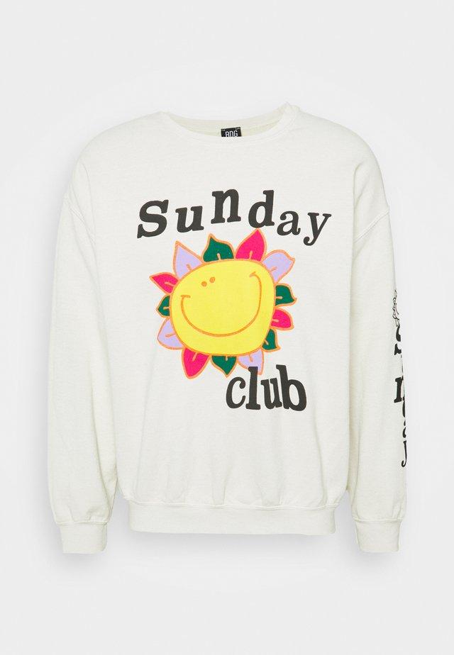 SUNDAY CLUB UNISEX - Sweatshirt - stone