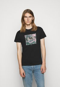 PS Paul Smith - SLIM FIT ZEBRA - Print T-shirt - black - 0