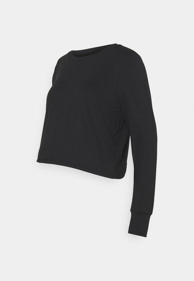CROSS BACK LONG SLEEVE - Long sleeved top - black