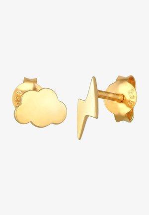 Cloud Flash - Pendientes - gold