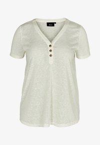 Zizzi - Basic T-shirt - off-white - 3