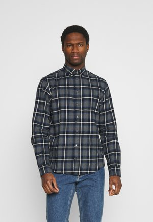 ANTON - Shirt - dark grey melange