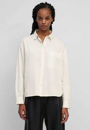 AUS ORGANIC  - Button-down blouse - white sand
