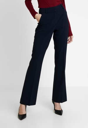 CLARA  LONG - Trousers - navy