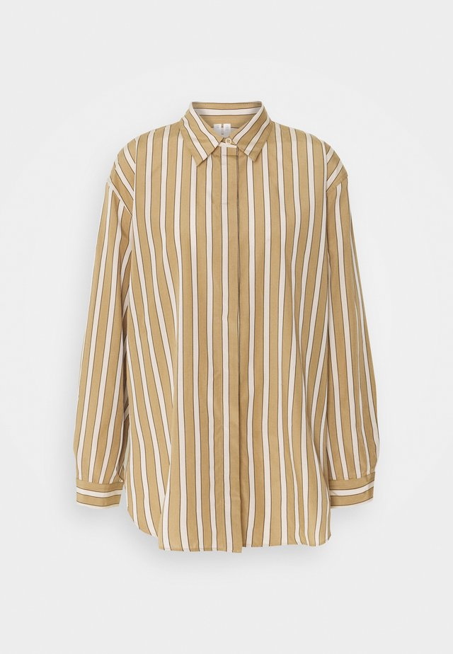 Button-down blouse - beige medium dusty