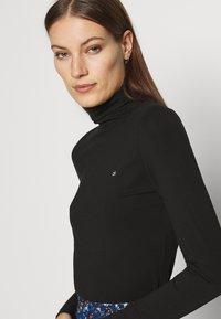 Calvin Klein - TURTLE NECK - Long sleeved top - black - 4